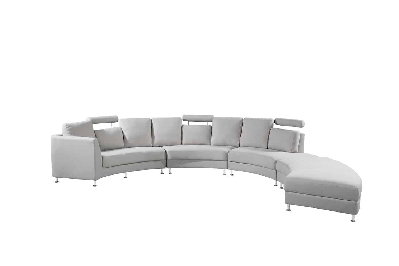 Admirable Light Grey Fabric Circular Sofa Rossini Machost Co Dining Chair Design Ideas Machostcouk