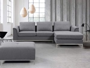 OLLON Right Facing Fabric Sectional Sofa