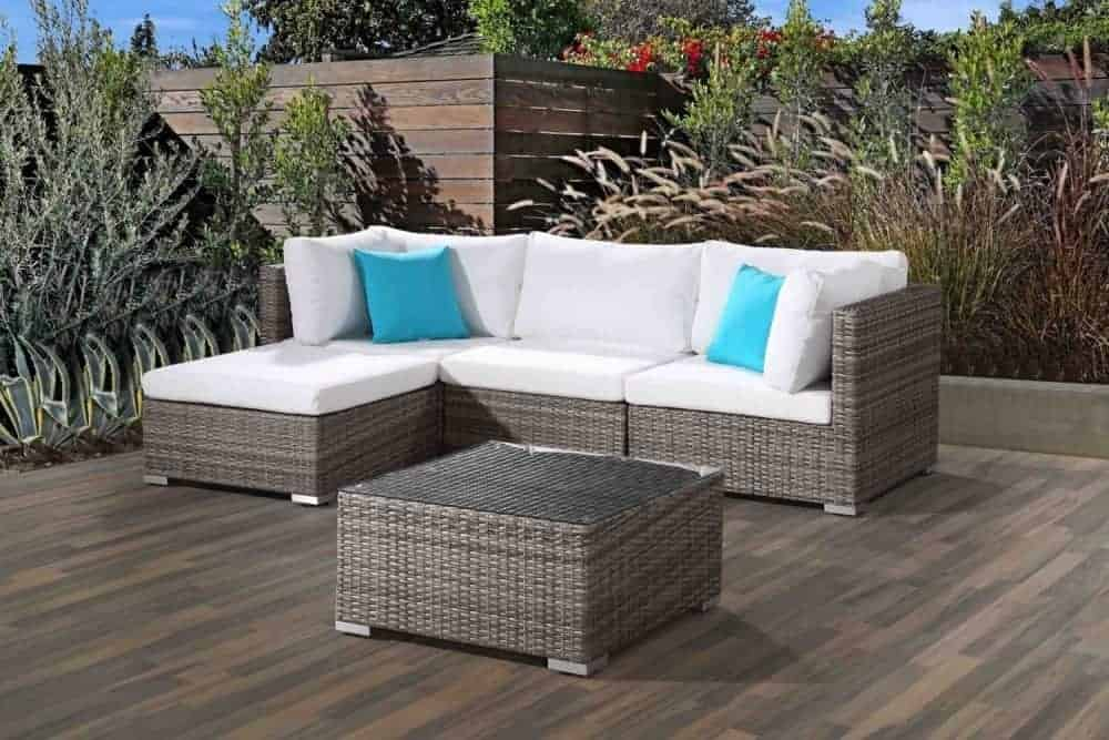 Modern Wicker Outdoor Sofa Set For The Patio Velago Patio Furniture
