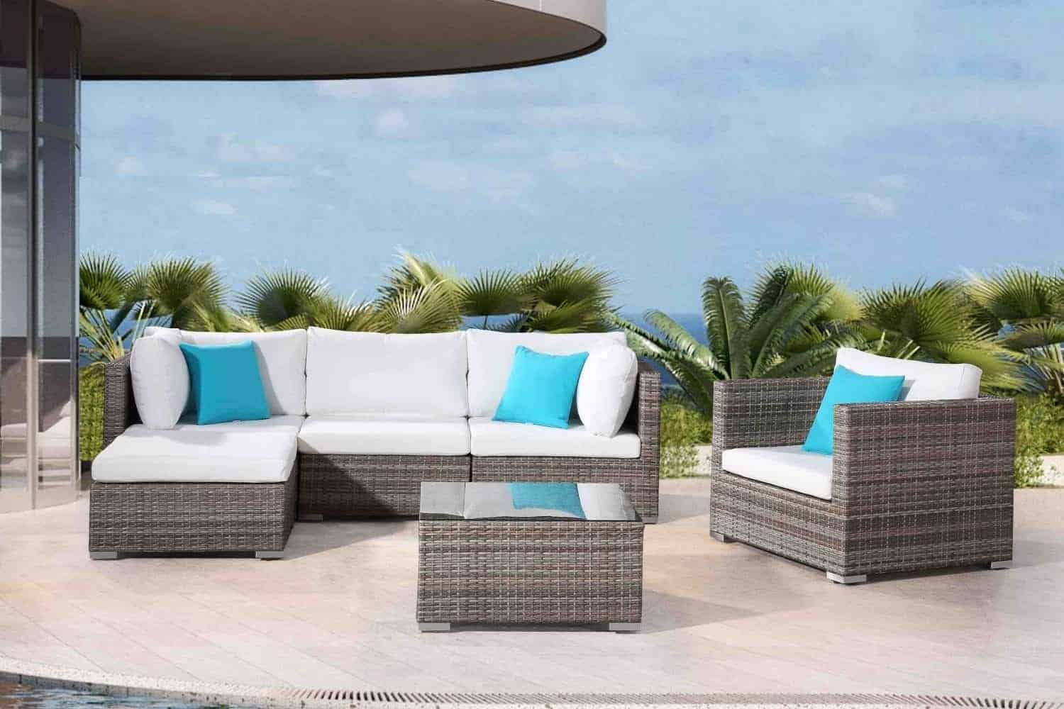 Velago Patio Furniture & Modern Wicker Sectional Lounge for the Patio | Velago Patio Furniture