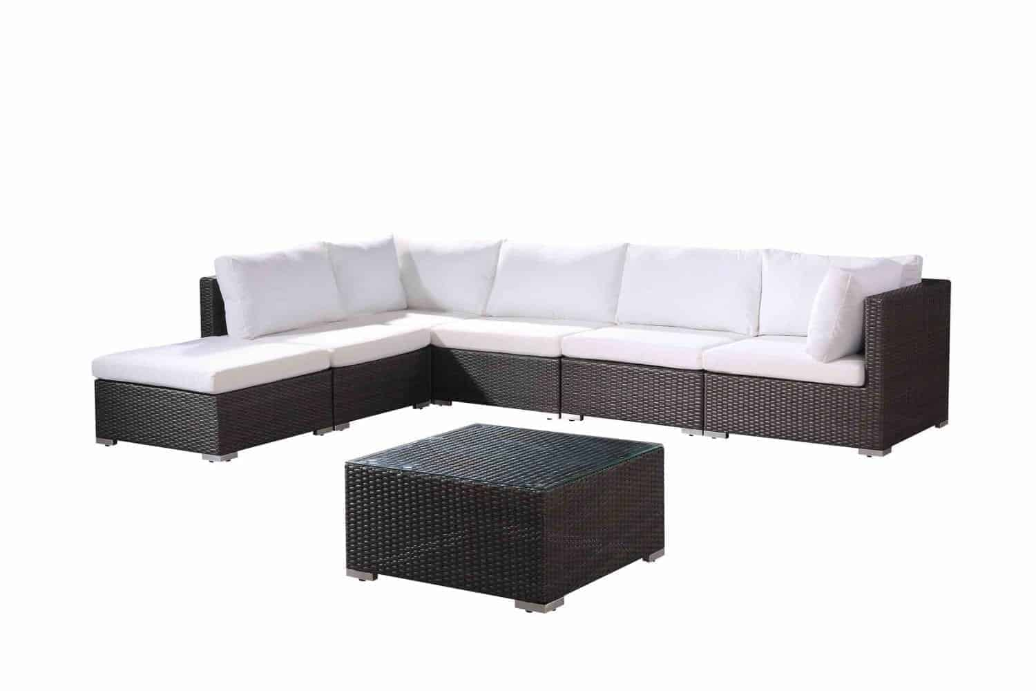 7pc Charcoal Wicker Set Fresco Extended