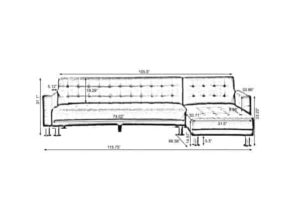 PU Leather Sleeper Sofa