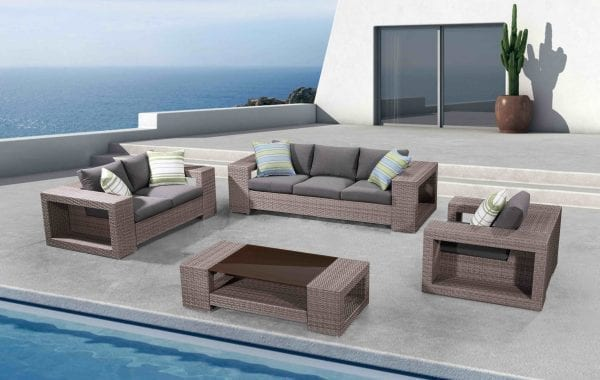 Someo Wicker Patio Conversation Set