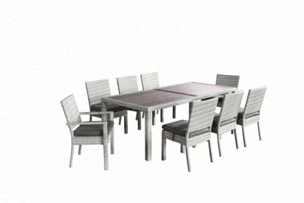 Aquila 9 Piece Wicker Patio Dining Set