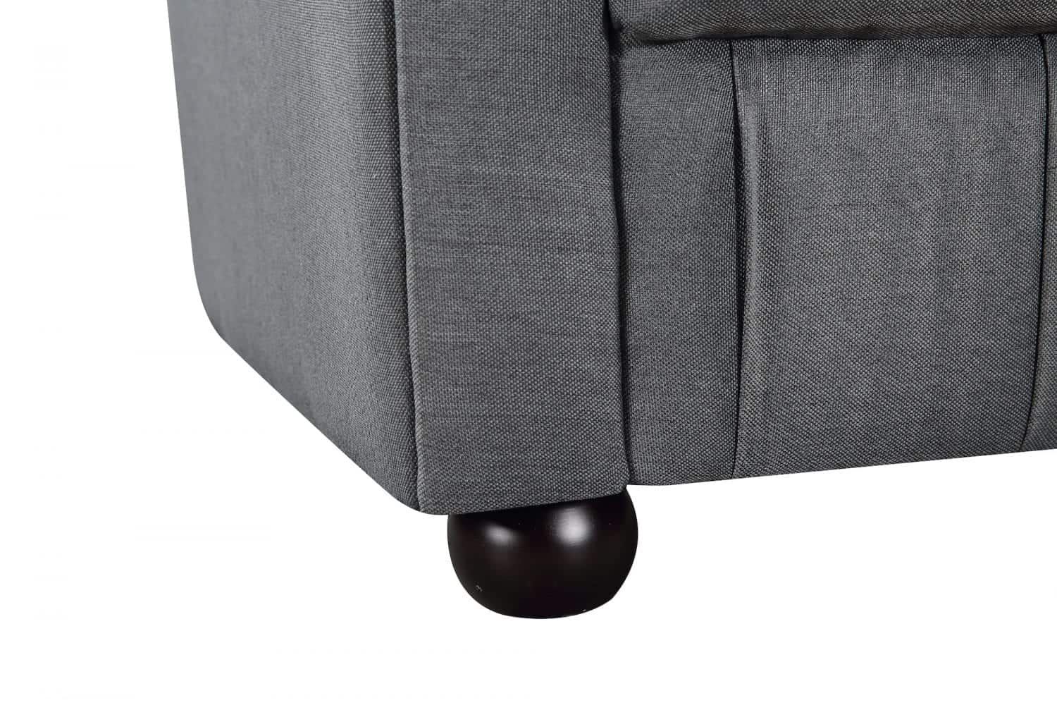 Modern Chesterfield Style Fabric Loveseat