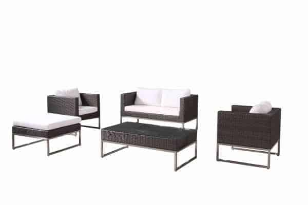 Capriasca Charcoal Conversation Set
