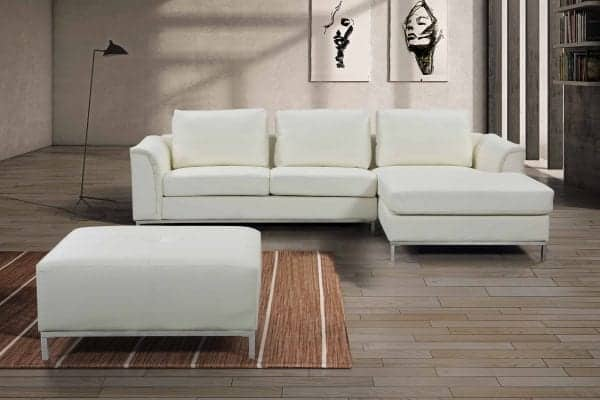 OLLON Right Facing Leather Sectional Sofa