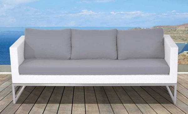Capriasca Patio Wicker 3-Seat Sofa