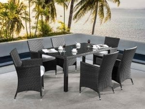 Chiasso Patio Wicker 6-seat Dining Set