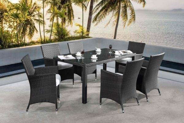 Chiasso Patio Wicker 6-seat Dining Set