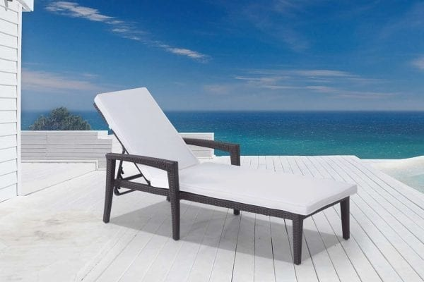 Bellinzona KD Wicker Sun Lounger