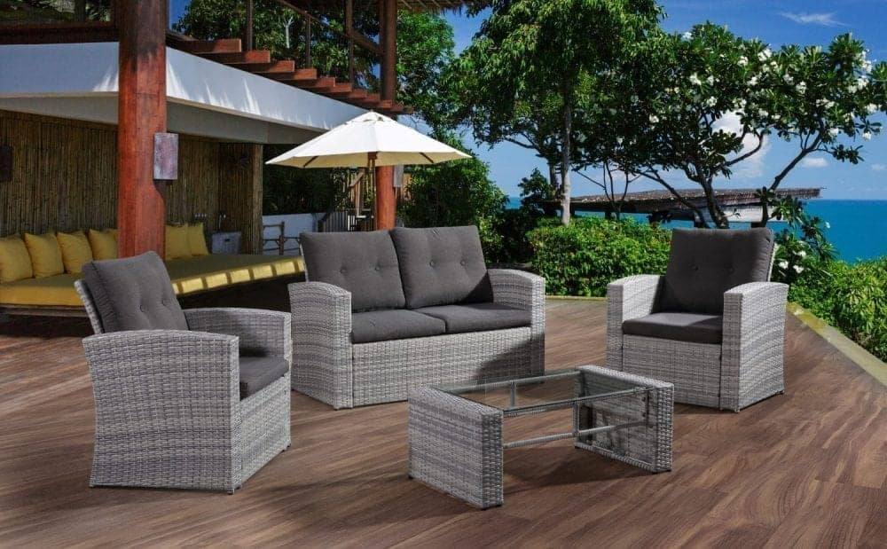 Outdoor Wicker Conversation Set For 4