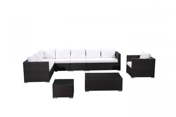 Generoso Charcoal Wicker Patio Lounge Set