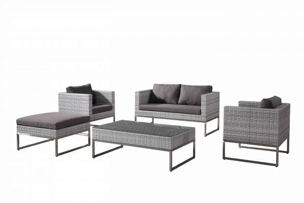 Capriasca Light Grey Conversation Set