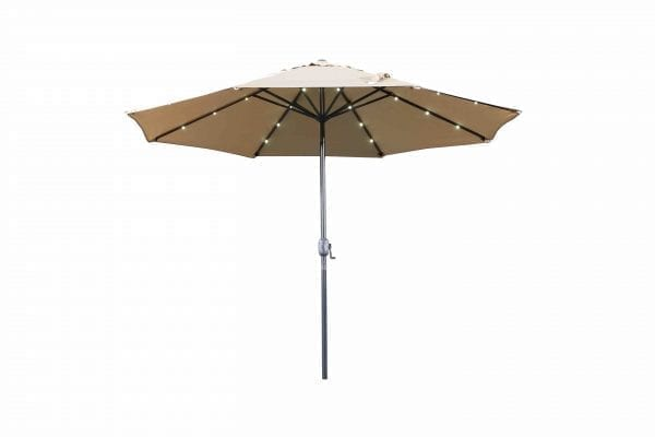 Denia Led Market Umbrella 10 feet, Mocha