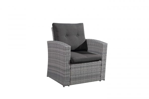 Lamone Light Gray Wicker Conversation Set