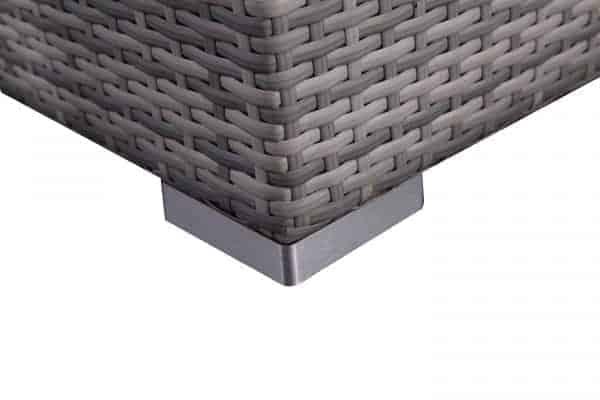 RIva Light Gray Wicker Patio Sectional Set