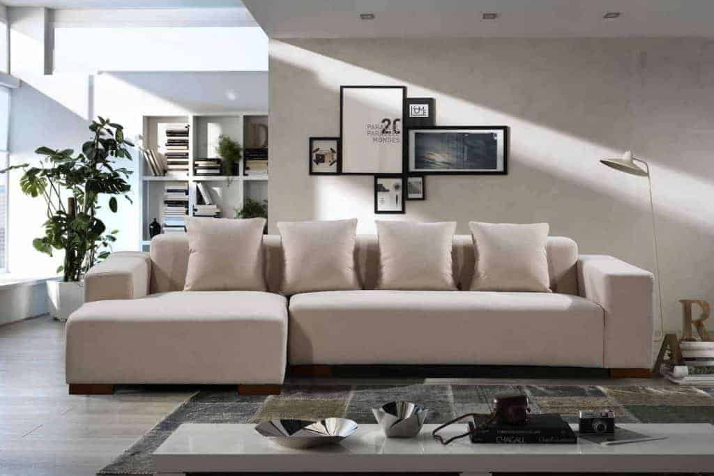 Fabric Upholstered Sectional Sofa - Lyon