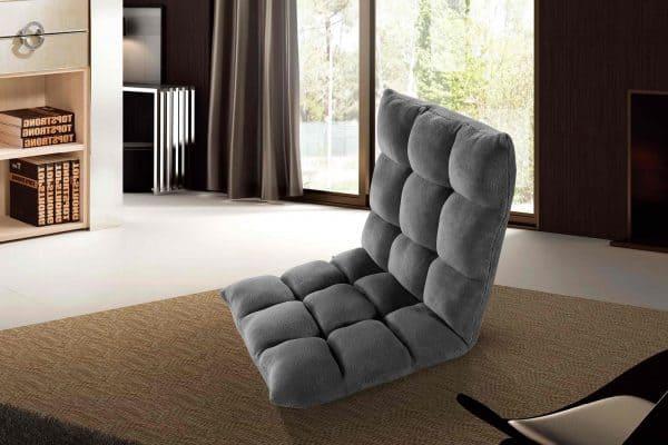 Dark Grey Gaming Floor Chair Clam