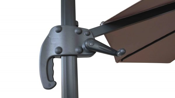 Valencia Cantilever Umbrella With Base Mocha