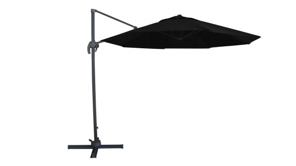 Valencia Cantilever Umbrella With Base Black