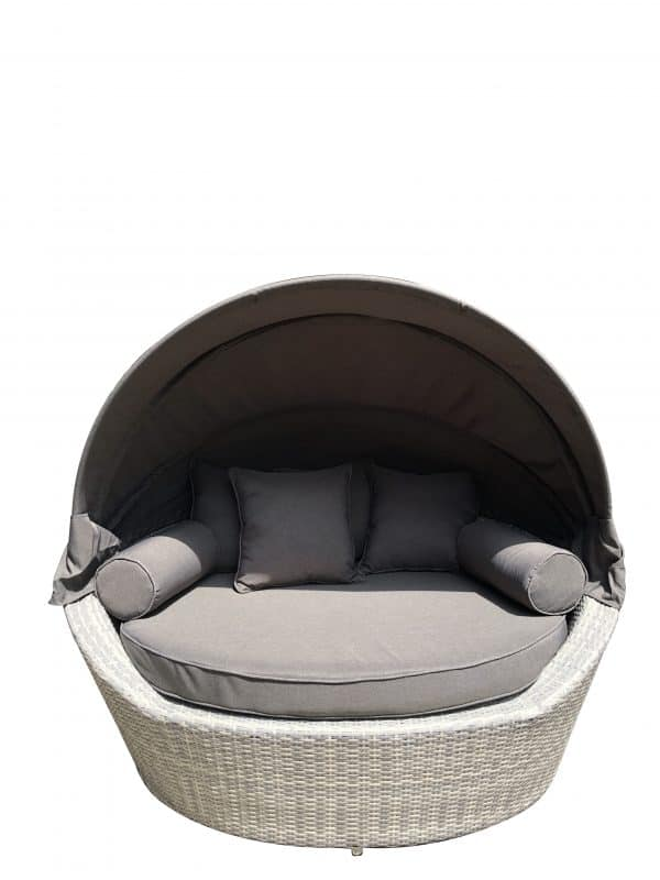 Sogno Regular Daybed Patio Wicker Light Grey