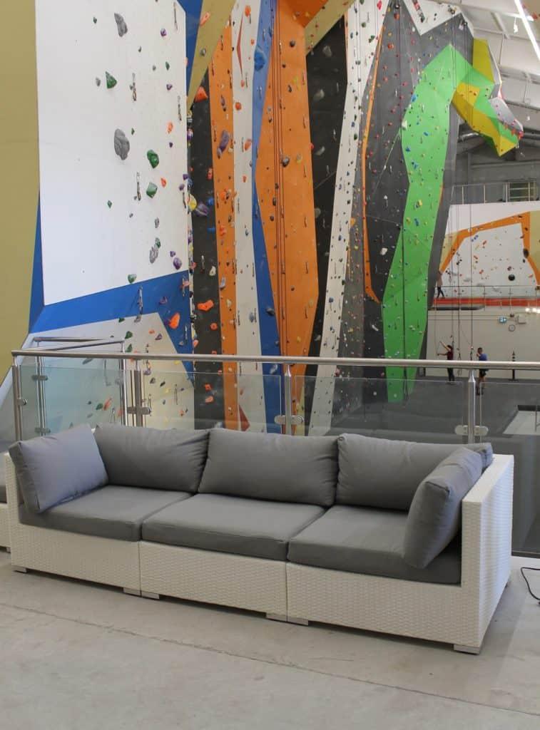 Velago wicker lounge in sports complex