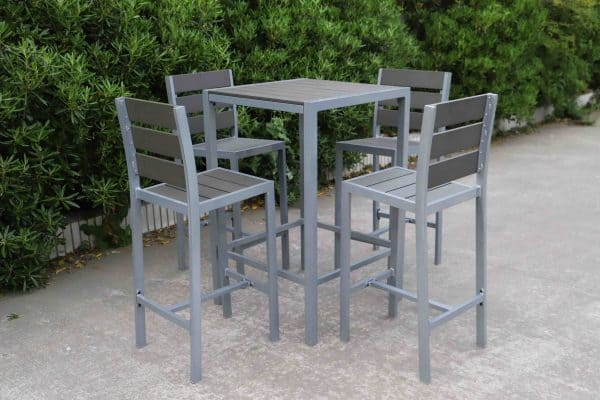 outdoor patio bar set polywood