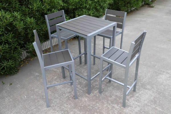 outdoor bar set for 4 aluminum and polywood by Velago