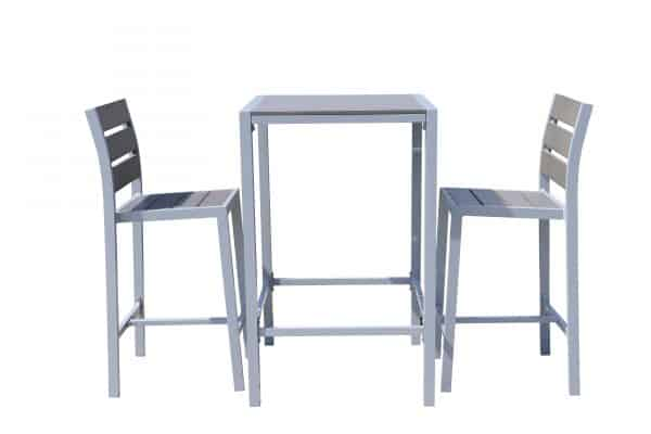 patio bar set with 2 stools