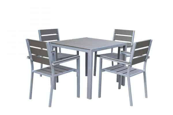 outdoor dining set with 4 chairs aluminum